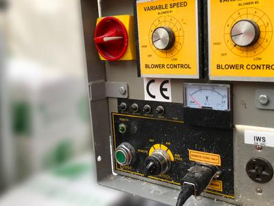 Stock photo of a blower control unit, from https://www.pexels.com/photo/traffic-industry-technology-station-6308578/