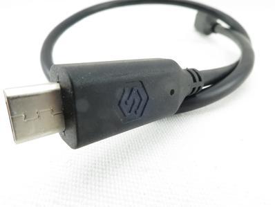 Manufacturer logo on the plug