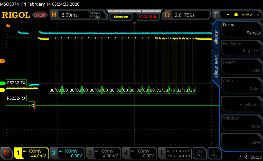 Data exchange at 19.2kbps