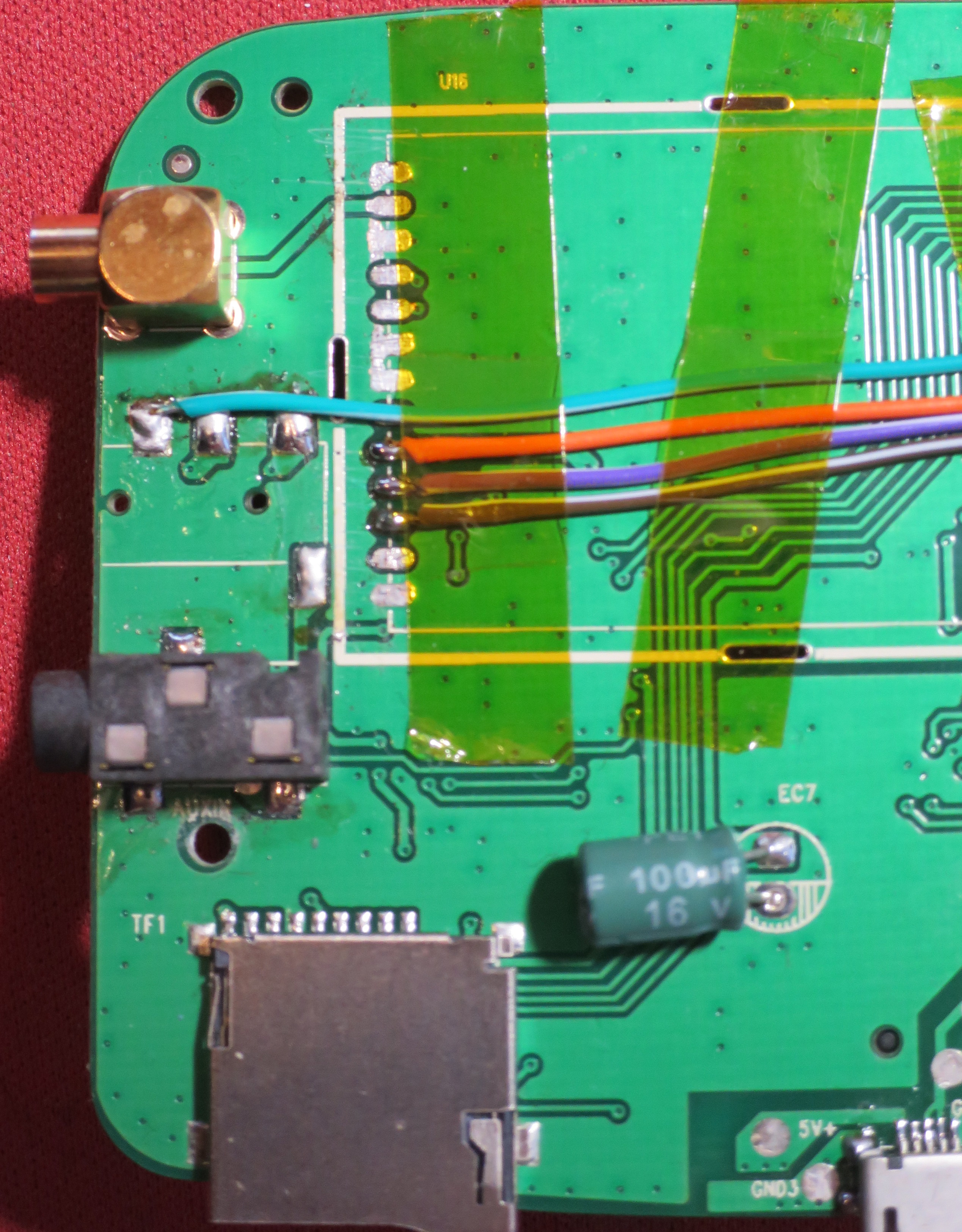 Breaking out the pins on the main board