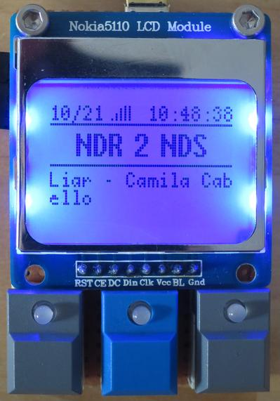 DAB tuner receiving a station