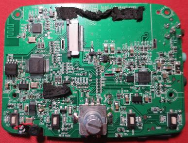 The PCB from the front...