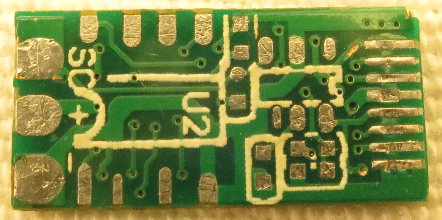 PCB view of the bottom side