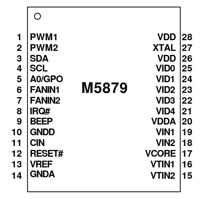 M5879 pinout