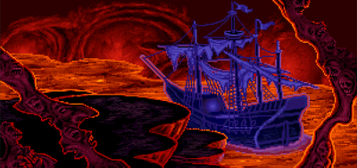 LeChuck's ship, as visible in the game